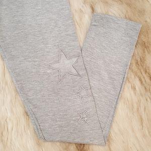 Heathered Gray Star Crop Leggings